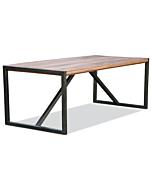 industriele acacia houten tafel