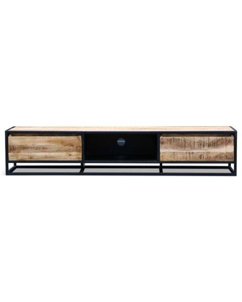 tv-dressoir zwart hout